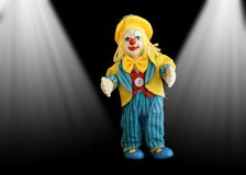Figure funny little clown Stock Images