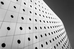 Figure géométrique minimaliste de construire le mur extérieur images stock