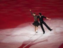 Figure gala de patinage, F. Faiella et M. olympiques Scali Photos libres de droits