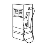 Figure gasoline pump nozzle image Stock Photo