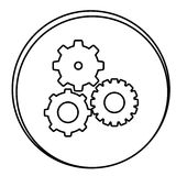 Figure gears emblem icon. Illustraction design Stock Image
