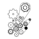 Figure gears signs icon. Illustraction design Stock Images