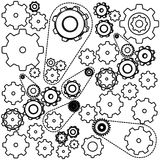 Figure gears symbols icon. Illustraction design image Royalty Free Stock Photos