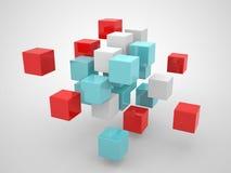 Figure geometriche astratte dai cubi Fotografia Stock Libera da Diritti