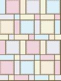Figure geometriche con gli ornamenti Fotografie Stock Libere da Diritti