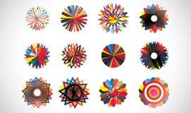 Figure geometriche concentriche circolari variopinte royalty illustrazione gratis
