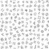 Figure geometriche monocromatiche modello senza cuciture nello stile moderno dei pantaloni a vita bassa royalty illustrazione gratis
