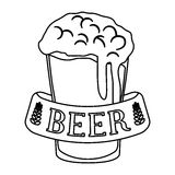 Figure glass beer icon image design Royalty Free Stock Image