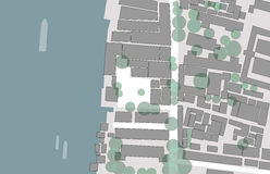 Figure and ground of city. For urban planing Royalty Free Stock Photo