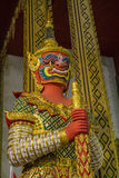 Figure guardian demon. Terrify , in Thai temple Stock Images