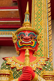 Figure guardian demon , terrify. In Thai temple Royalty Free Stock Image