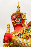 Figure guardian demon , terrify. In Thai temple Stock Photography