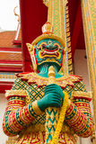 Figure guardian demon , terrify. In Thai temple Stock Photos