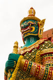 Figure guardian demon , terrify. In Thai temple Stock Image