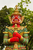 Figure guardian demon , terrify. In Thai temple Royalty Free Stock Photography