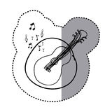 Figure guitar instrument note music icon. Illustration design Stock Image