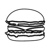 Figure hamburger fast food icon. Illustraction design Royalty Free Stock Photos