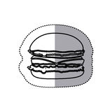 Figure hamburger fast food icon Royalty Free Stock Photos