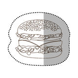 Figure hamburger fast food icon Stock Image
