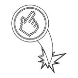 Figure hand cursor with hole icon. Illustraction design Royalty Free Stock Image