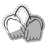 Figure hand with handcuffs icon image. Illustration Stock Images