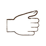 Figure hand related icon image. Illustration design Stock Photography