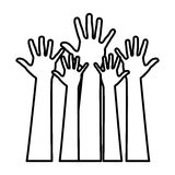 Figure hands up icon Stock Images