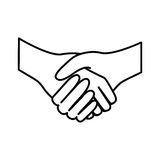 Figure handshake sticker icon Royalty Free Stock Photo