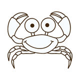 Figure happy crab cartoon icon Stock Images
