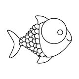 Figure happy fish cartoon icon Royalty Free Stock Photos