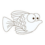Figure happy fish cartoon icon Stock Photos