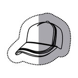 Figure hat cloth icon Royalty Free Stock Photos