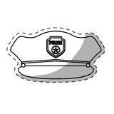 Figure hat police icon image Stock Photography