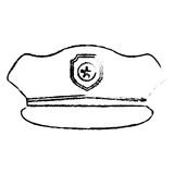 Figure hat police icon image Royalty Free Stock Images
