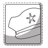 Figure hat police icon image. Illustration Stock Photography