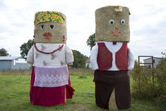 Figure from hay bale. In Poland Stock Photos