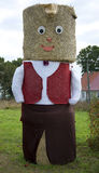 Figure from hay bale. In Poland Royalty Free Stock Image