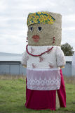Figure from hay bale. In Poland Stock Photo