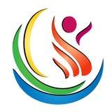 Figure health spa logo vector  Royalty Free Stock Photo