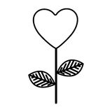 Figure heart balloon plant icon. Illustraction design Stock Image