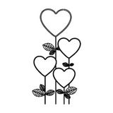 Figure heart balloons trees icon. Illustraction design Royalty Free Stock Images