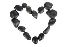 Figure of heart from dark stones Stock Photo