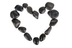 Figure of heart from dark stones Stock Photo