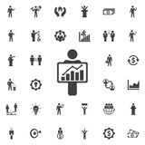 Figure Holding diagram icon. Business icons set Royalty Free Stock Images