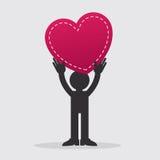 Figure Holding Heart Royalty Free Stock Photos