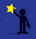 Figure Holding Star Royalty Free Stock Photography