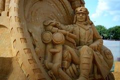 Figure hors du sable Image libre de droits