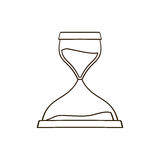 Figure hourglass icon image Stock Images