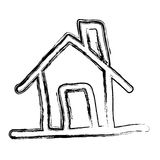 Figure house icon image. Illustration design Royalty Free Stock Images