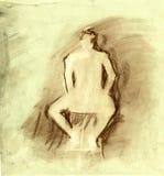 figure humaine retrait dedans sur le papier de texture Photo stock